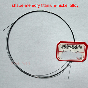 Nickel titanium nitinol chromel alloy NiTi Memory Hyperelastic wire filament 0.1mm 0.15mm 0.2mm 0.25mm 0.3mm 0.4mm 0.5mm 0.6mm(China)