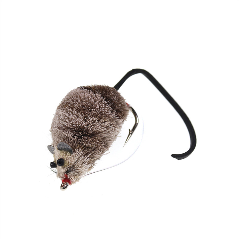 1PCS Vintage Fly Fishing Mouse Shape Bait With Hook Snake Big Trout Fishing Supplies Bait 9