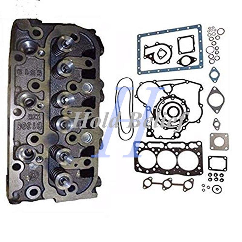 Completo Motore Testa del Cilindro + Completo Guarnizioni per Kubota D1005