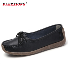 Genuine Leather Women Shoes Casual Loafers Lace-up Oxford Flat Shoes Woman Autumn Female Ladies Shoes zapatos de mujer