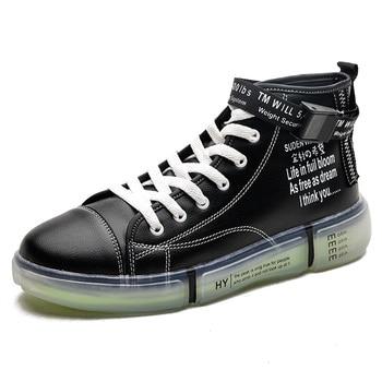 Otoño nueva moda clásica de los hombres de alta-top zapatos casuales cómodos zapatillas