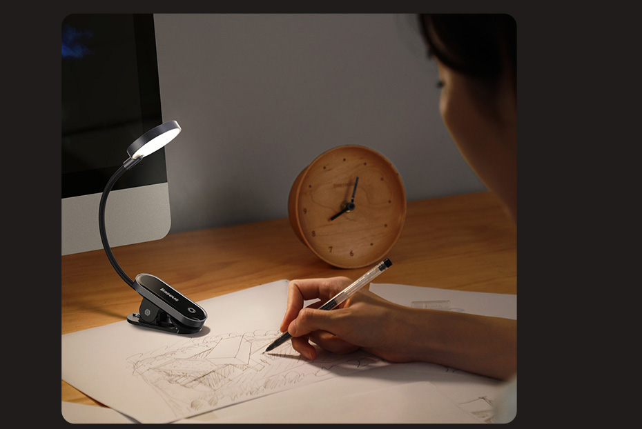 Baseus Comfort Reading Mini Clip Lamp 7