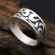 Real S990 sterling silver Clouds Wedding Brand fashion engagement vintage ring Women Men jewelry S220 hongclub 2017 new s990 sterling silver ring men jewelry magpie flower wedding brand ring women gift fine jewelry wholesale r18