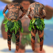 Adults & Child Cosplay Costumes Moana Maui Tattoo T Shirt Pants Halloween Party Adult Mens Kids Cosplay Costume