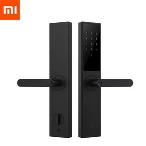 Xiaomi Mijia Smart Door Lock Youth Edition Smart lock Fingerprint Password Bluetooth Unlock Detect Alarm Work with Mi Home App(China)