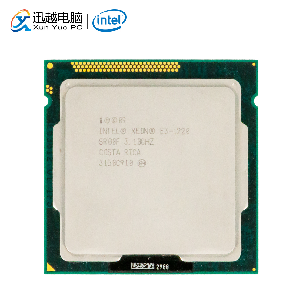 Intel Xeon E3-1220 שולחן עבודה מעבד E3 1220 Quad-Core 3.1 GHz LGA 1155 שרת מעבד משומש