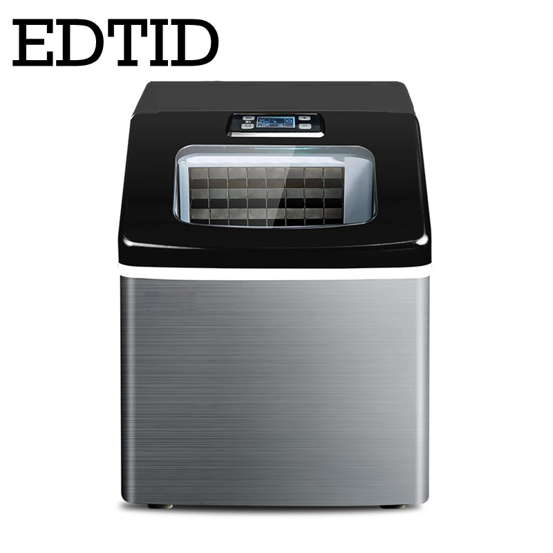 EDTID New High Quality Small Commercial Ice Machine Household Ice Machine Tea Milk Shop Automatic Water Inlet