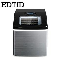 EDTID nueva Alta Calidad pequeña máquina de hielo comercial máquina de hielo doméstica té leche tienda entrada de agua automática