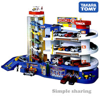 Takara Tomy Tomica World Scene Super Auto Car Parking Building Set Vehicles Educational Baby Toys For Children
