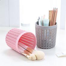 1 шт. цилиндрическая пустая косметическая коробка для кистей, пустые аксессуары для макияжа, держатель для ручек, контейнер для мелочей, женские инструменты для макияжа