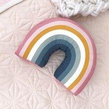 Ins Горячая Радуга мягкая подушка игрушки дети для спокойного детского сна Успокаивающая подушка для объятий Милая
