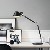 Nordic personality creative table lamp office work bedside desk reading telescopic rocker arm long arm folding led table lamp
