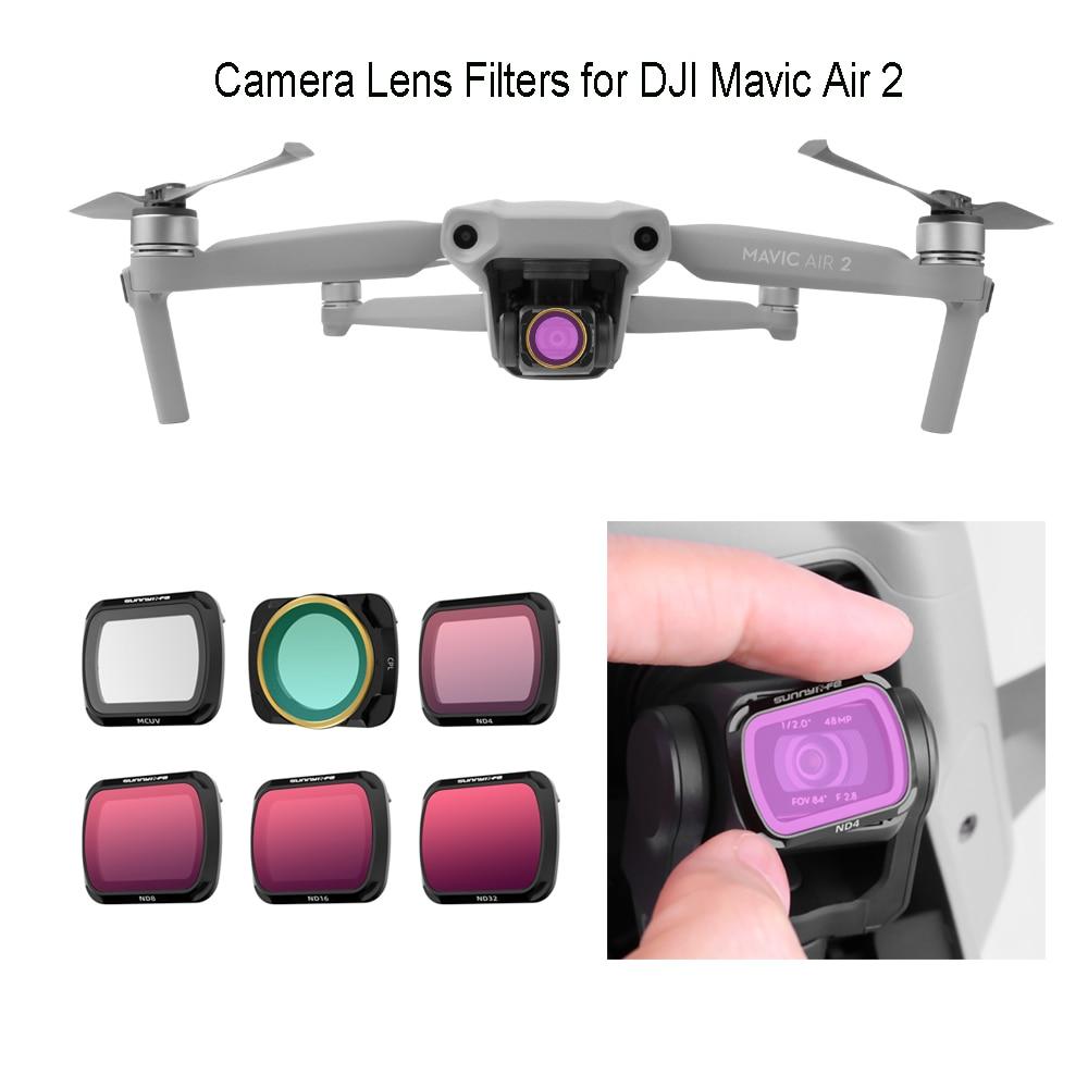 Mavic Air 2 Lens Filter MCUV CPL ND PL Filters Air 2 Drone Camera ND16 ND32 ND4-PL ND8-PL Filter for DJI Mavic Air 2 Accessories