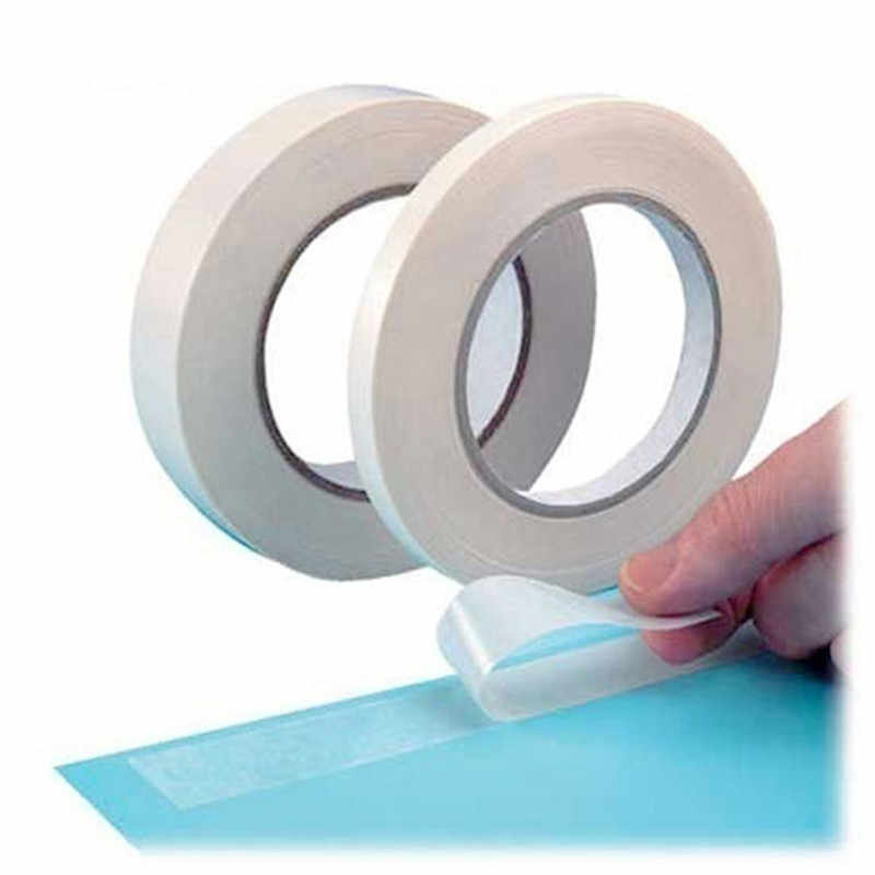 8 m branco super forte dupla face fita adesiva papel forte ultra-fino alta-adesiva de algodão dupla face fita dropshipping