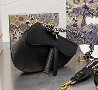 Bolso de hombro ancho de cuero de marca de lujo para mujer, bolsa con solapa y diagonal de un solo hombro, 2021