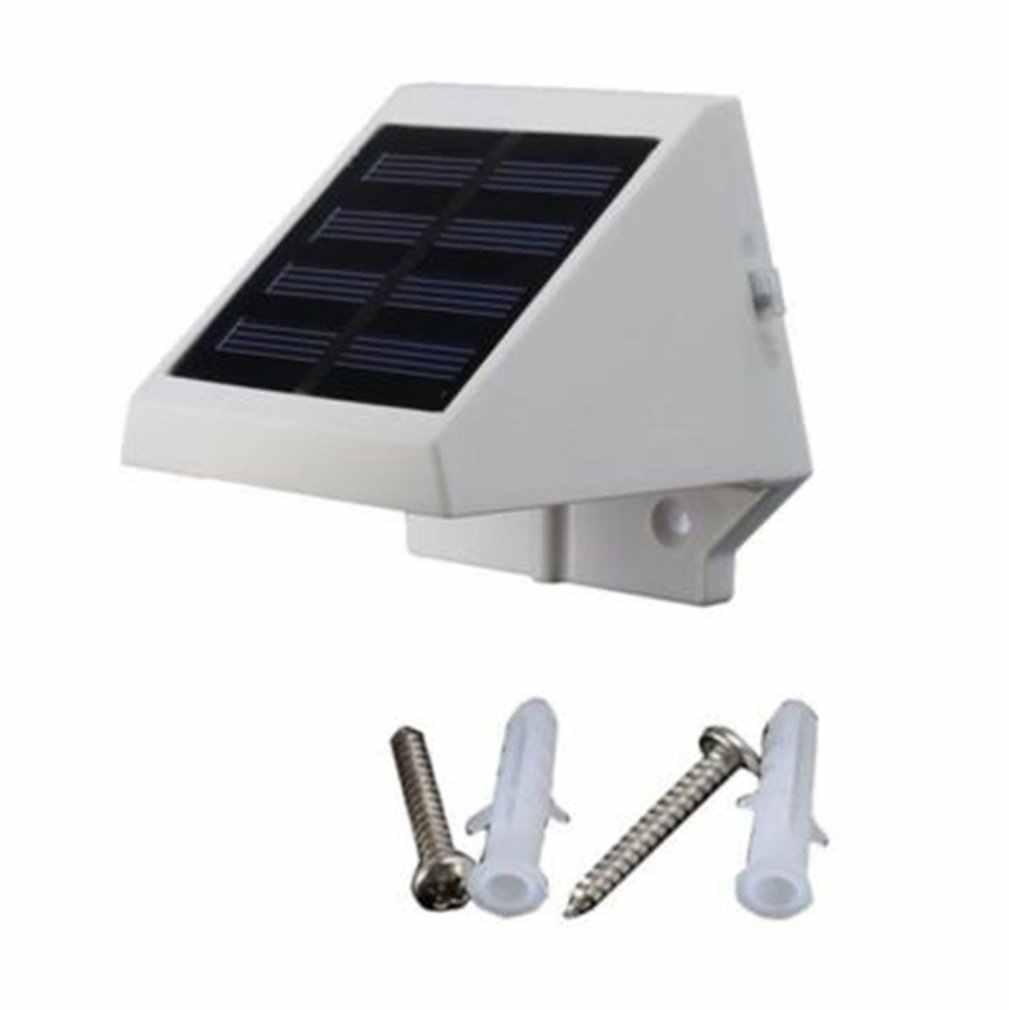 4Led พลังงานแสงอาทิตย์โคมไฟรั้วผนังโคมไฟประหยัดพลังงานการปกป้องสิ่งแวดล้อมและสวยตกแต่งสนามหญ้า
