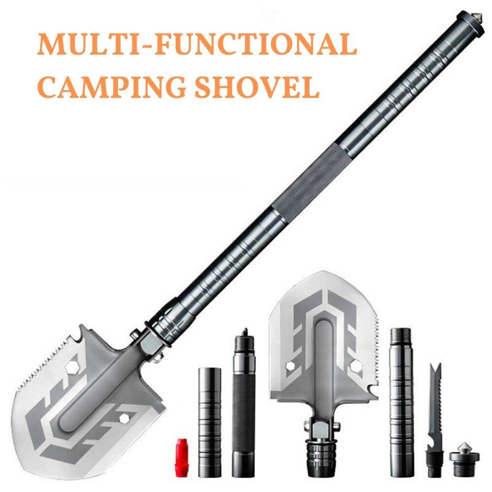 Pala táctica para acampar al aire libre 58 DH multiherramienta pala plegable levantador montado pala de pesca herramienta de Camping de emergencia al aire libre