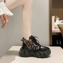 Женские ботинки на платформе Зимние Модные ботильоны Брендовые