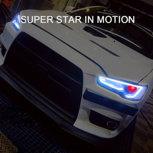 Image 2 - CNSUNNYLIGHT עבור מיצובישי לנסר EVO X 2008 2017 רכב פנס עצרת LED DRL הפעל אות קסנון HID מקרן עדשה תקע לשחק
