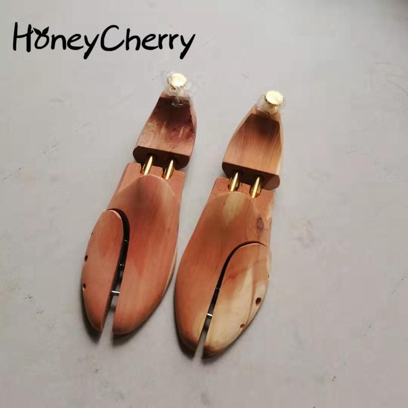 Cedar Wood Shoe Brace, Whole Shoe Last, Solid Wood Adjustable Leather Shoe Care, Wrinkle-proof And Deformation-proof