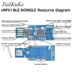 Image 2 - NRF51 DA14583 Bluetooth 4.0 4.1 BLE Adapter DONGLE Sniffer Protocol Analyzer