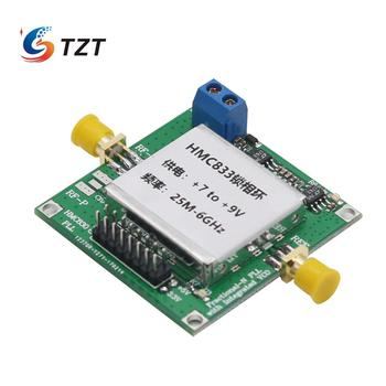 TZT 25MHz-6GHz HMC833 Phase-Locked Loop Module RF Signal Generator 7V to 9V HMC833 Core Board