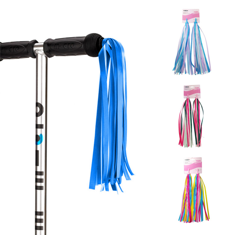 Kids Bike Handlebar Streamers Colorful Ribbons Tassel For Girls Boys Scooter Handgrip New
