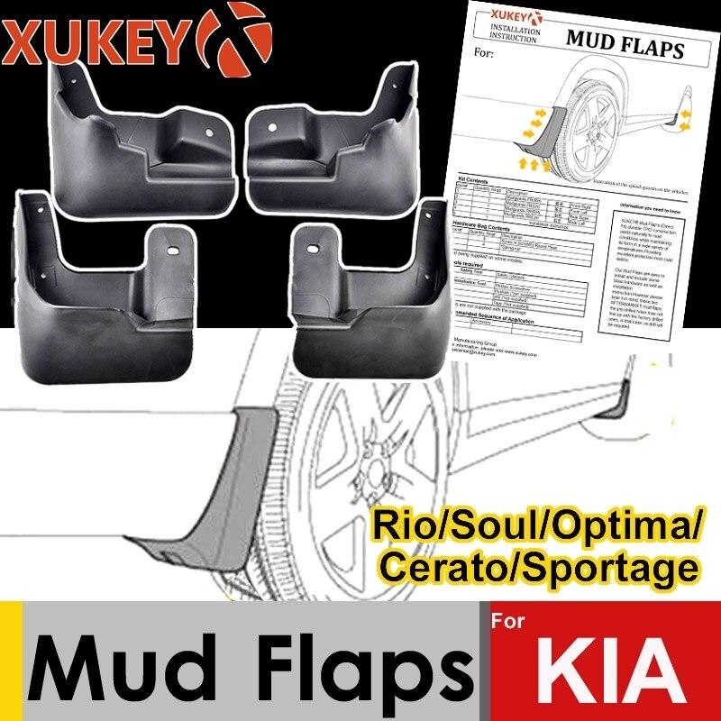 XUKEY Mud Flaps For Kia Rio Soul Cerato Spectra Forte Optima Sportage K3 K5 X-line KX Cross Mudflaps Splash Guards Mudguards