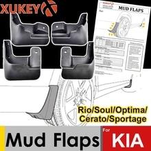 Xukey mud flaps para kia rio alma cerato spectra forte optima sportage k3 k5 x linha kx cross mudflaps respingo guardas para lamas