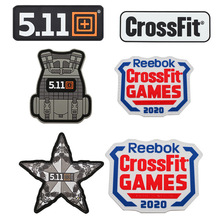 CrossFit 511 Sport Backpack Sticker 3D Velcro Tactical Vest Patches Army Military PVC Armband Waterproof Clothing Bag Appliques