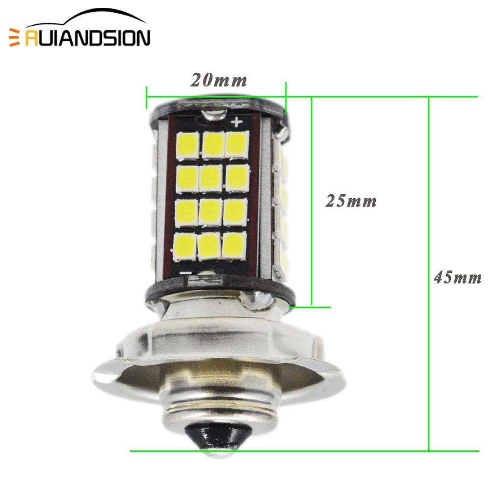 2x P26S Led Motorcycle Headlight 6V 12V LED 2835 56SMD Led Moto Bulbs 960lm Super White Motorbike Head Lamp Scooter Accessories image