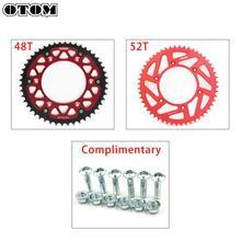OTOM 48T 52T Motorcycle Rear Chain Sprocket For HONDA CR CRF XR CRM 125 150F 230F 230L 250 250X 250R 400 450R 450X 500 650R