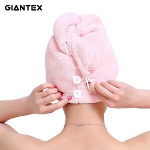 Image 1 - GIANTEX женские полотенца ванная комната полотенце из микрофибры полотенце для волос банные полотенца для взрослых toallas servitte de bain recznik handdoeken