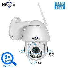 Hiseeu-kamera zewnętrzna, 1080P, bezprzewodowa, PTZ, kopułkowa, radar, IP, Wi-Fi, dwukierunkowa, audio CCTV, kamera bezpieczeństwa, sieć monitoringu P2P