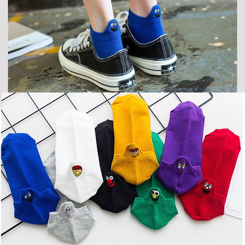 White Socks Women Cotton Socks For Girls Woman Harajuku Cute Socks Funny Lady Cartoon Socks Kawaii Sox Skarpetki Damskie Meia