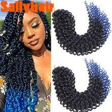 Sallyhair 18inch Passion Twist Hair Ombre Blonde Water Wave Bohemian Braid Crochet Hair Braiding Hair Extension