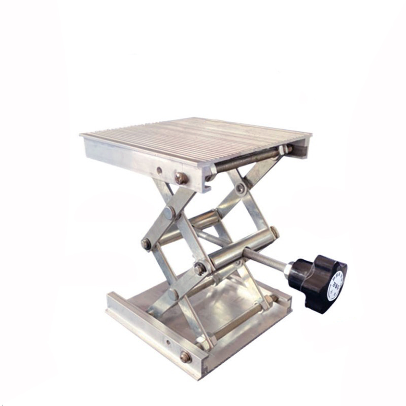 Image 5 - 100x100mm Stainless Steel Adjustable Drill Lift Laboratory Lifting Platform Router Lift Table Woodworking Lab Lifting Stand RackHand Tool Sets   -