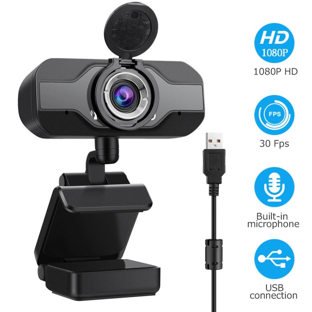 Full hd 1080p широкоугольная веб камера usb с микрофоном для