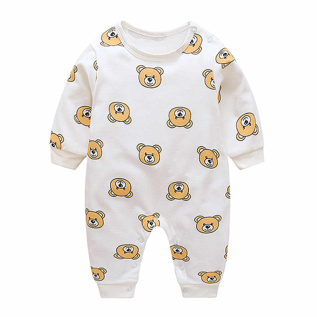 Newborn Infant Baby Boy Girl Cartoon Bear Print Romper Jumpsuit Clothes Outfits Climbing Clothes Brands Baby Costumes Pajamas
