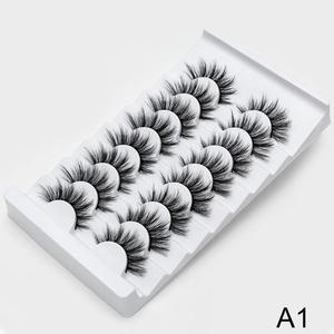 Image 5 - SEXYSHEEP 8/13 זוגות פו 3D מינק ריסים טבעי ארוכים נפח מזויפים איפור הארכת ריסים maquiagem