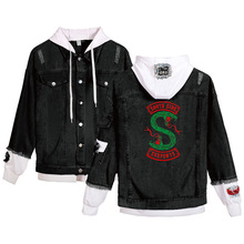 New hot Hooded jackets coats selling Print South Side riverdale Two headed Serpe