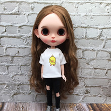 T-Shirt Clothing Pants Doll-Accessories Blyth Ob24 Ripped Barbies 1PCS for 1/6 Cartoon