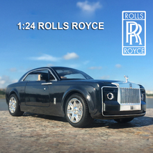 1:24 diecast toy vehicles Rolls Royce Huiying phantom Models Of Cars Metal Model Sound Light Pull Back For Kids cars miniature стоимость