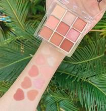 Miss lara 9 cor brilho fosco sombra paleta maquiagem glitter pigmento esfumaçado sombra paleta cosméticos à prova dwaterproof água