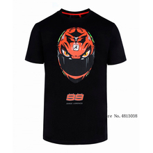 2018 Moto Racing GP Jorge Lorenzo 99 T-shirt helmet Fashion Style Mens Black T shirt Sports Outdoor Leisure