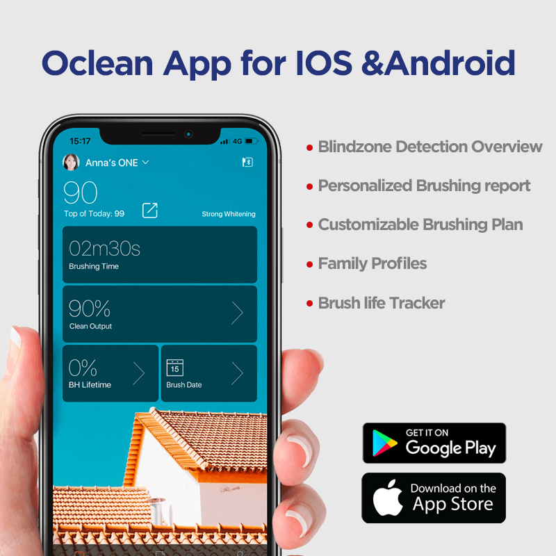 Global Version Oclean X Pro Sonic Electric Toothbrush Adults Smart Color Touch Screen Sonic Electric Tooth Brush App Control