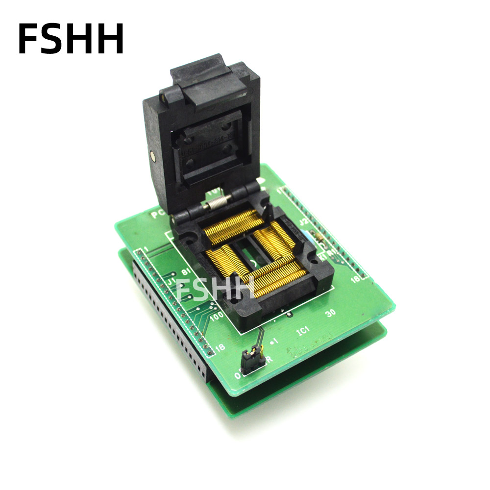 PCA7477G-100 REV.A Programmer Adapter IC51-1004-814-18 Test Socket QFP100 To DIP16 Adapter LQFP100 TQFP100 Test Socket