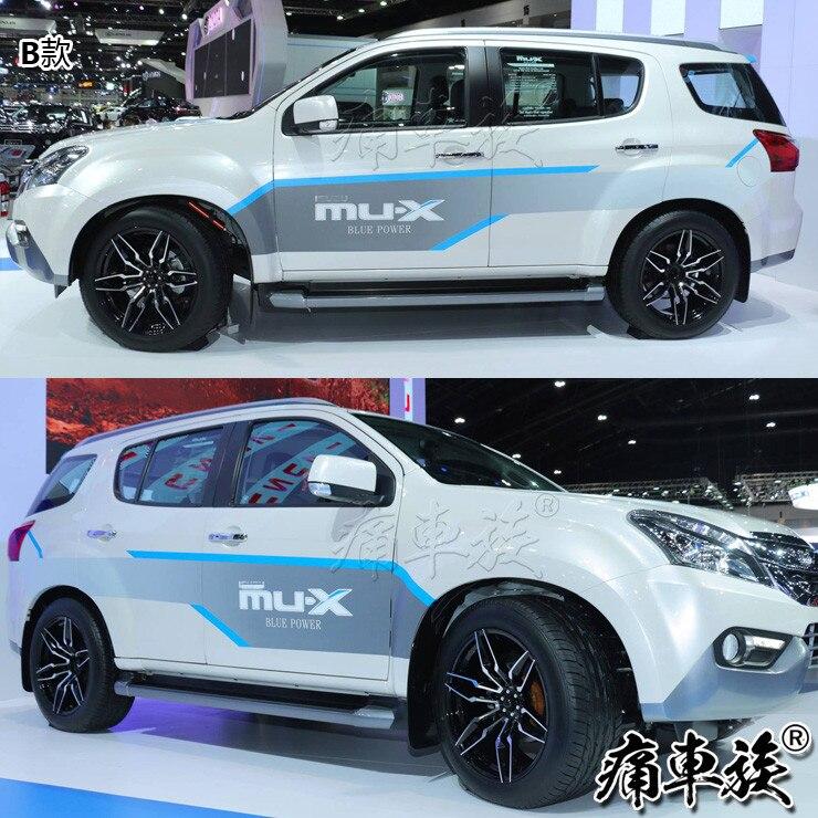 Стикер для автомобиля Isuzu mu X, украшение для двери кузова, наклейка с цветком, цветная панель mu X blue drive, декоративная наклейка для ремонта - 2