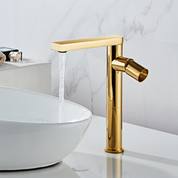 Basin Faucets Bathroom Sink Faucet Single Handle Hole Faucet Gold Brass Basin Tap Grifo Lavabo Wash Hot and Cold Mixer Tap Crane