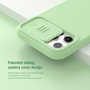 Image 2 - NILLKIN Magnetic Case For iPhone 12 Pro Max Liquid Silicone Soft Case Slide Camera Protect Privacy Back Cover for iPhone 12 Pro